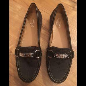 COACH FELISHA Signature Canvas  Leather Loafers